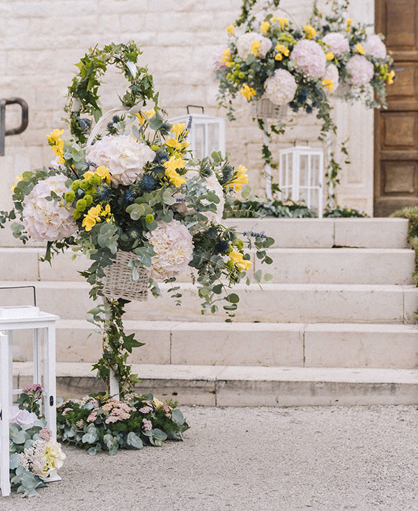 matrimonio-shabby-chic-fiori-giallo