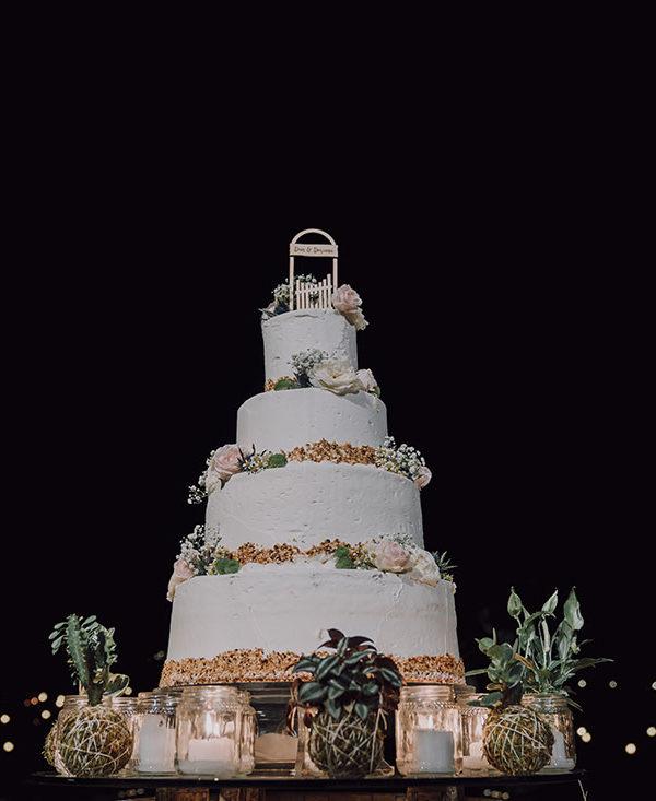 organizzare matrimonio-torta-sera