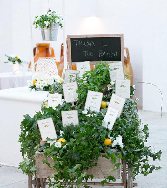 Wedding Apulia addobbi sul carretto