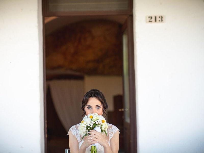 Wedding Apulia bouquet con sposa