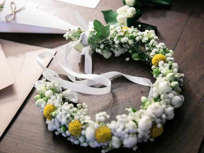 Wedding Apulia Coroncina di fiori