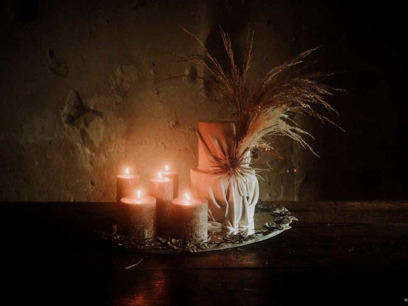 matrimonio boho chic inspiration matera candele