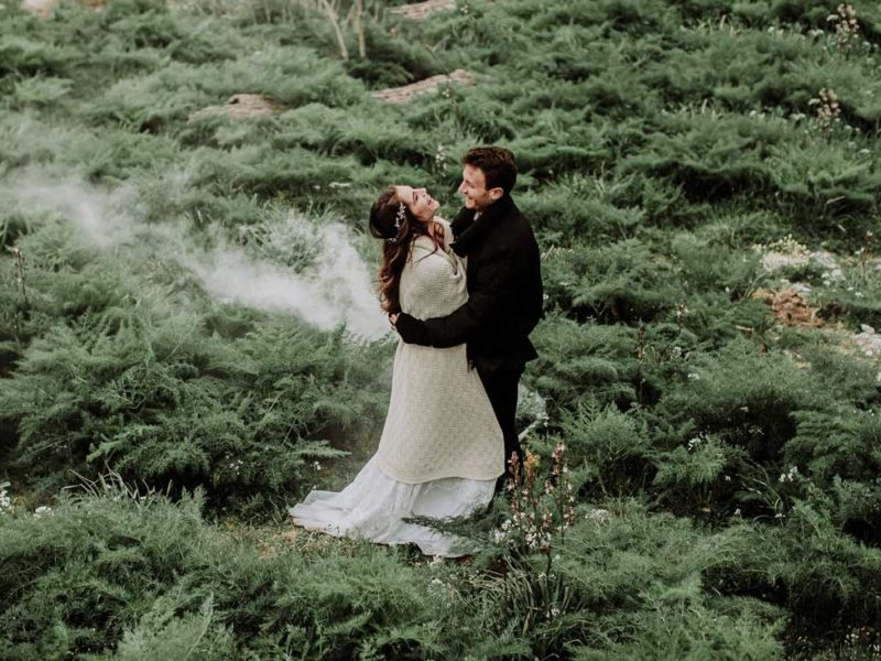 matrimonio boho chic inspiration matera sposi nel verde