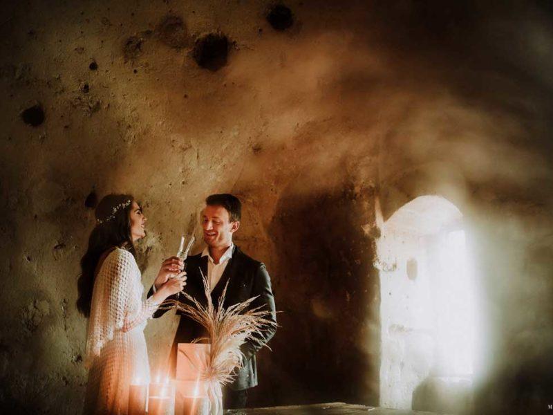 matrimonio boho chic inspiration matera sposi sorridenti
