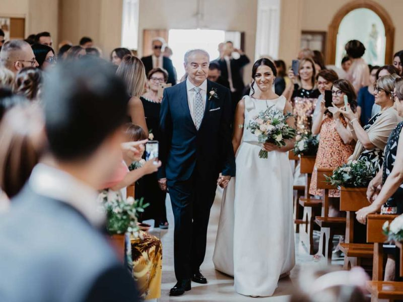 matrimonio glamour entrata della sposa