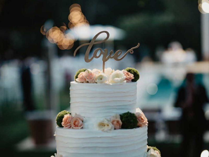 matrimonio glamour particolare torta