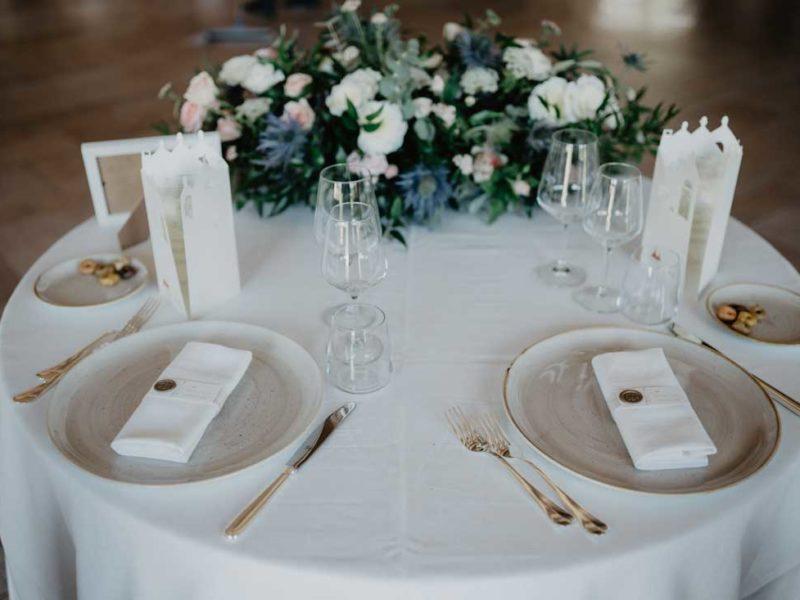 matrimonio glamour tavolo apparecchiato