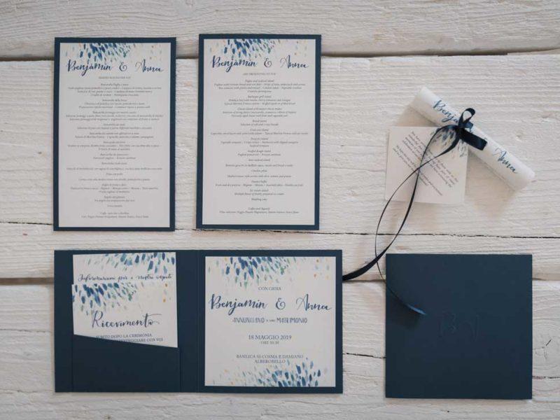 wedding in puglia inviti e menù