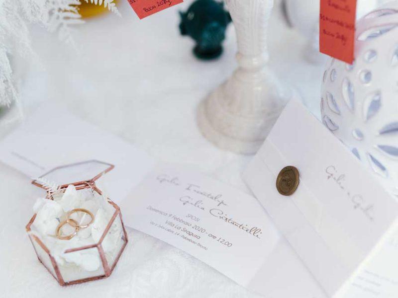 matrimonio glamour giulio e giulia anelli nuziali