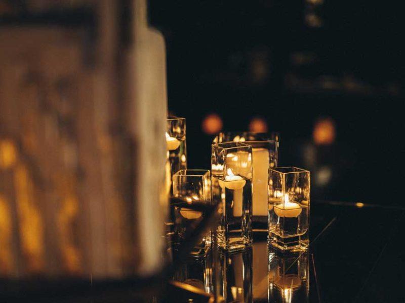 matrimonio glamour giulio e giulia candele
