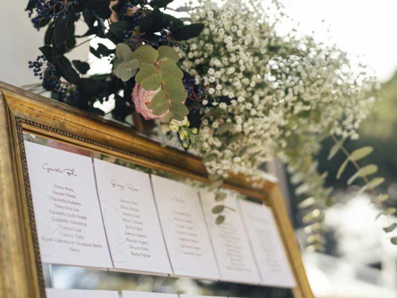 matrimonio glamour giulio e giulia nomi tavoli