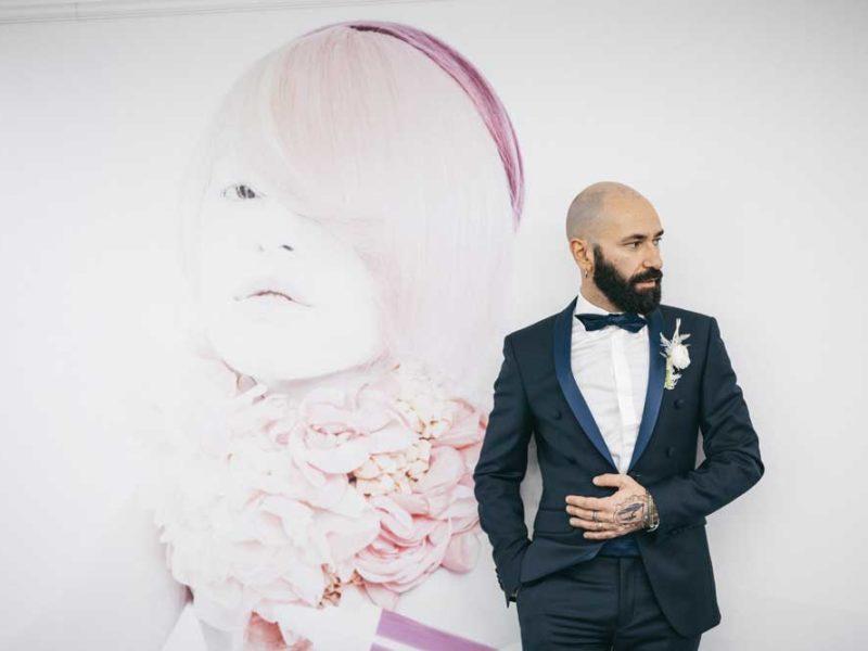 matrimonio glamour giulio e giulia sposo e immagine