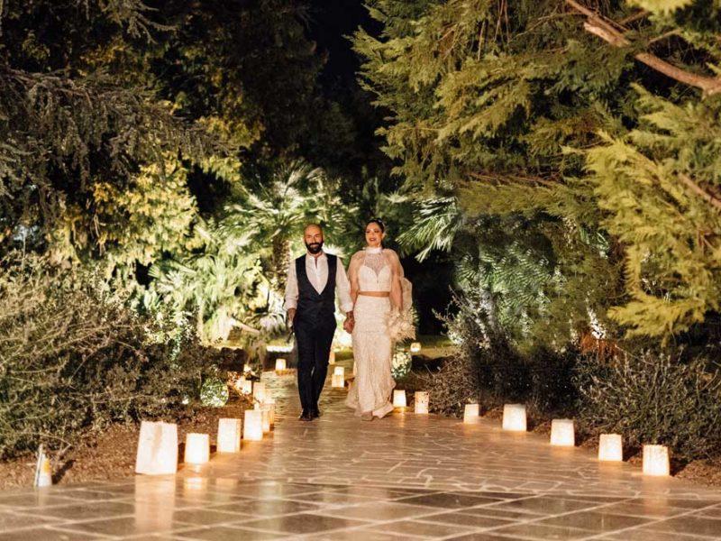 matrimonio glamour giulio e giulia tra candele