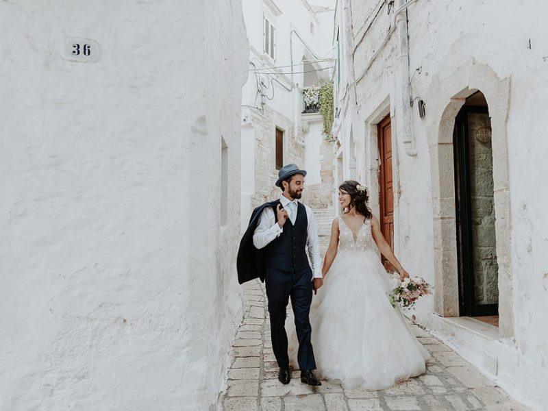 wedding in puglia marco e viviana a passeggio