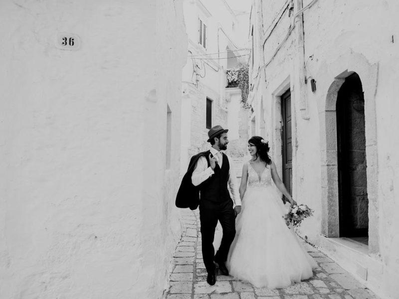 wedding in puglia marco e viviana sposi bianco e nero