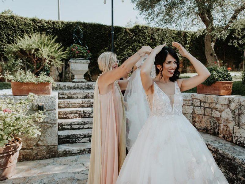 wedding in puglia marco e viviana velo della sposa