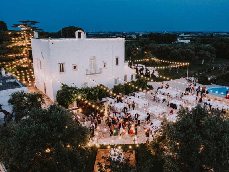 wedding in puglia ricevimento di sera pasquale e renee